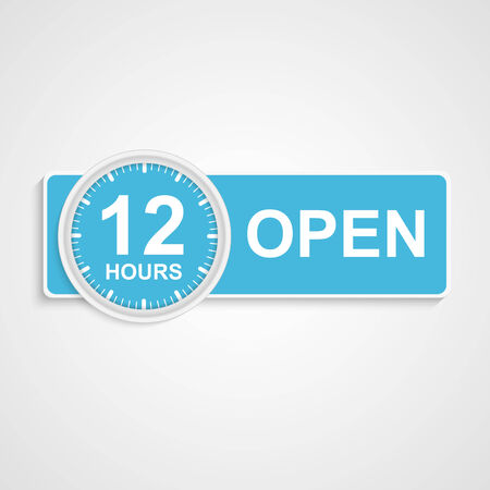 12 hours customer service icon