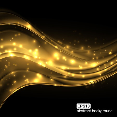 Ilustración de Abstract light wave futuristic background. Vector illustration. - Imagen libre de derechos