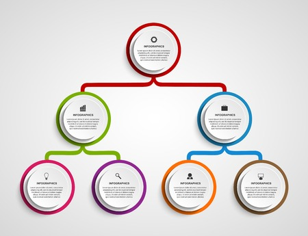 Foto per Infographic design organization chart template. - Immagine Royalty Free