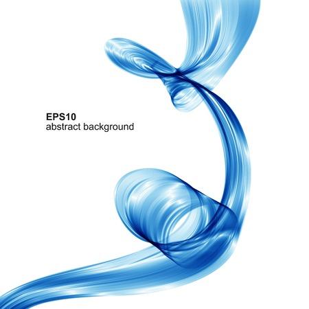 Illustration pour Vector abstract blue wave background - image libre de droit