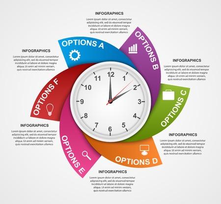 Illustration pour Abstract infographic design template. - image libre de droit
