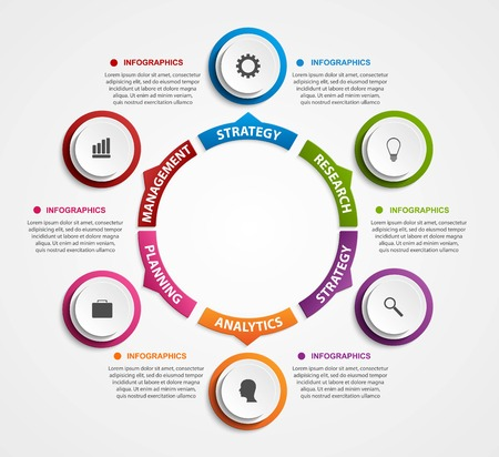 Illustration pour Modern infographics options banner. Vector illustration. - image libre de droit
