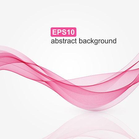 Ilustración de Abstract pink wave background. Vector illustration. - Imagen libre de derechos