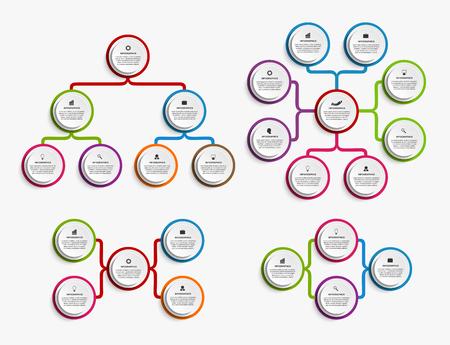Illustration pour Collection infographic design organization chart template. - image libre de droit
