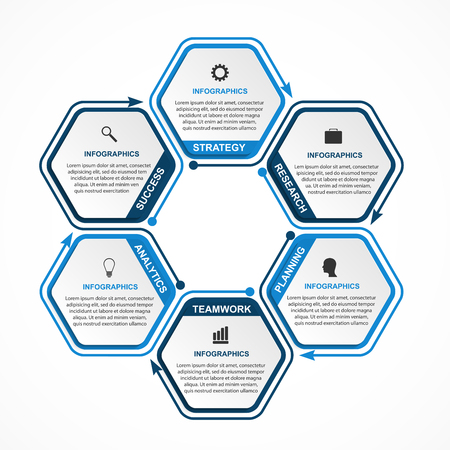 Ilustración de Abstract options infographics template. Infographics for business presentations or information banner. - Imagen libre de derechos