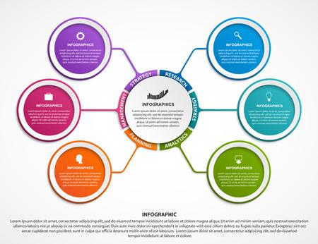 Ilustración de Infographic design organization chart template for business presentations vector - Imagen libre de derechos