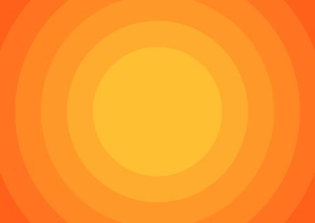Illustration pour Background with 6 orange circles from light to dark orange - image libre de droit