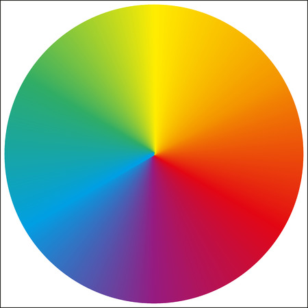 Illustration pour Isolated classic circular rainbow gradient background for your design - image libre de droit