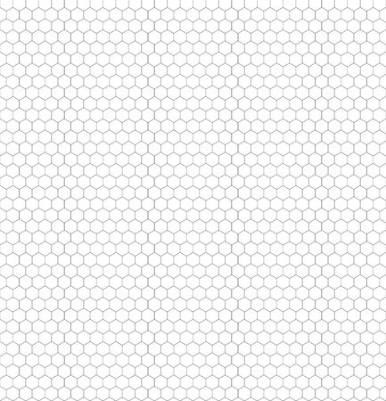 Illustration pour Seamless black and white hexagon honeycomb pattern net for your Coloration - image libre de droit