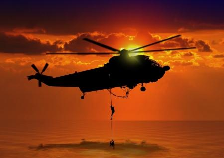 Foto de Rescue Helicopter at Sea - Imagen libre de derechos