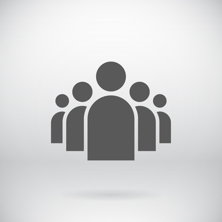Illustration for Illustration of Flat Group of People Icon   - Royalty Free Image