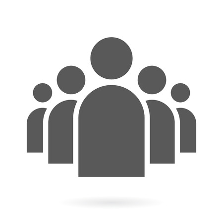 Illustration for Illustration of Flat Group of People Icon Vector Symbol Background - Royalty Free Image