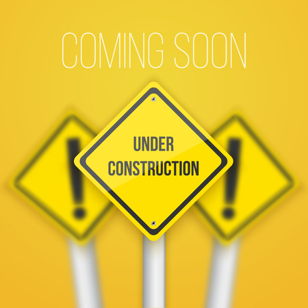 Photo pour  Road Sign with Under Construction text Template - image libre de droit