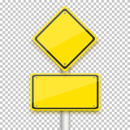 Illustration pour Illustration of Vector Road Yellow Sign - image libre de droit