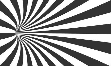 Illustration pour Illustration of Spiral Tunnel Illusion. Vortex Motion Striped Tunnel Background - image libre de droit