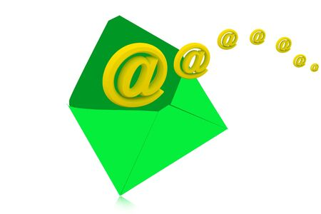 email icon coming out of open envelope