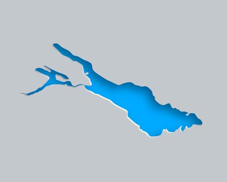 Ilustración de Map of Lake Constance - Imagen libre de derechos