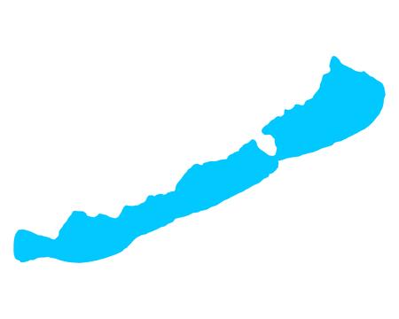 Ilustración de Map of Lake Balaton - Imagen libre de derechos