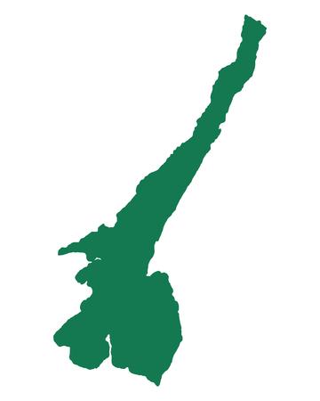 Ilustración de Map of Lake Garda - Imagen libre de derechos