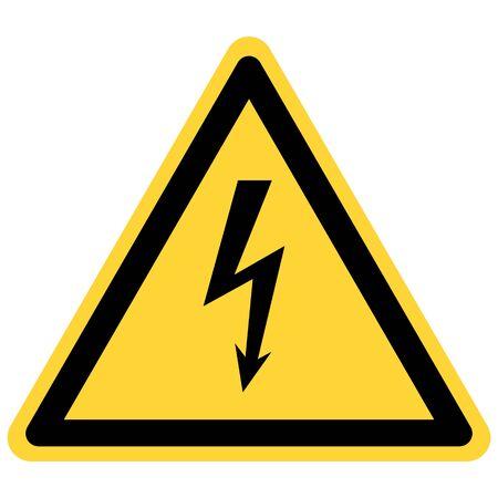 Illustration pour Lightning and danger sign - image libre de droit