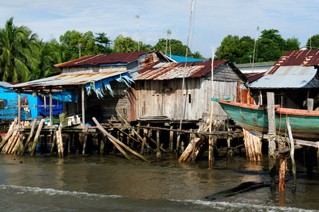 Foto de Cambodia. Koh Sdach island near the beautiful coast Botum Sakor National Park. Fisherman wood house - Imagen libre de derechos