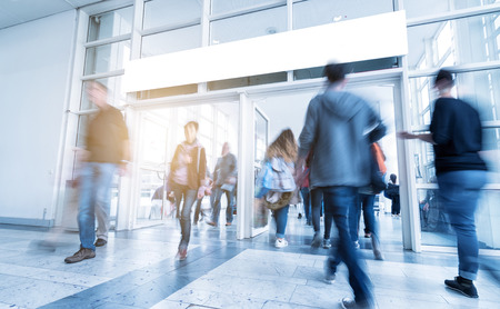 Photo for global consumer trade fair entrance - Royalty Free Image