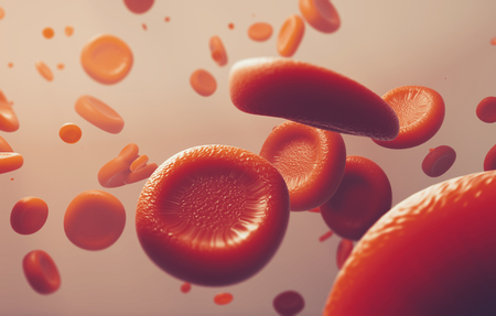 Photo for red blood cells, scientific or medical or microbiological concept image - 3D rendering - Royalty Free Image