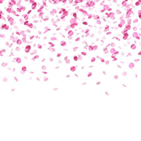 Illustration pour Pink confetti background. Seamless horizontal pattern. Metallic foil. - image libre de droit