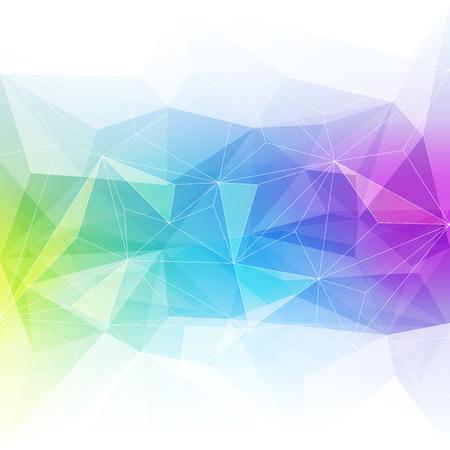 Ilustración de Colorful abstract crystal background. Ice or jewel structure. Blue, green and purple bright colors. - Imagen libre de derechos