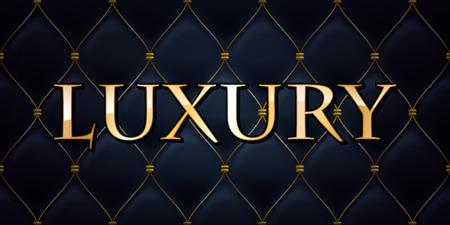 Ilustración de Luxury premium abstract quilted background, golden letters. - Imagen libre de derechos