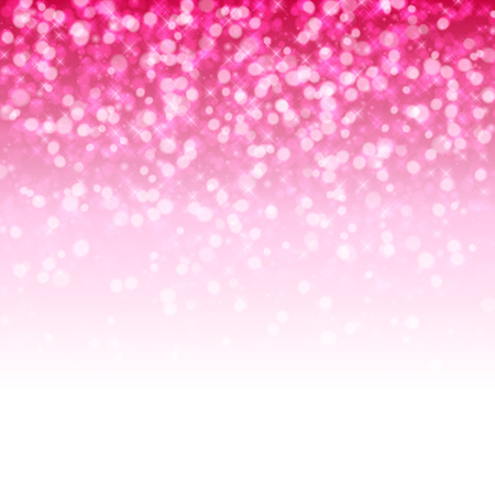 Ilustración de Glitter glow pink sparkles magical background. New year party and christmas design. Vector illustration. - Imagen libre de derechos