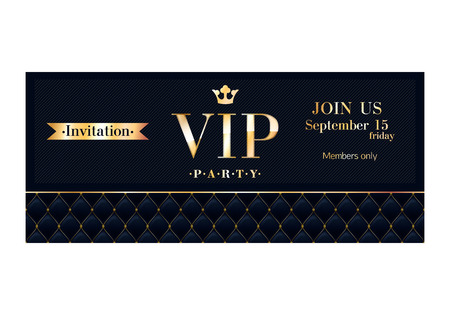 Illustration for VIP party premium invitation cards posters flyers.  - Royalty Free Image