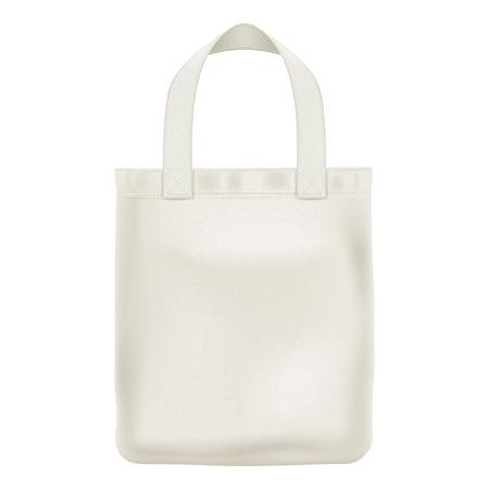 Illustration pour Eco textile tote shopper bag vector illustration. Good for branding design. - image libre de droit