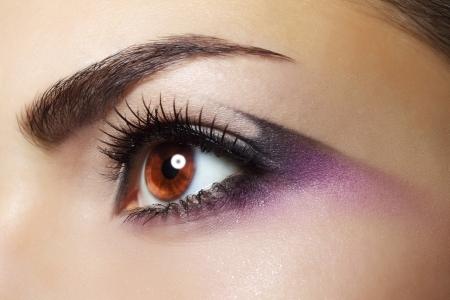 Purple Eye Makeup Beautiful eye makeup close up