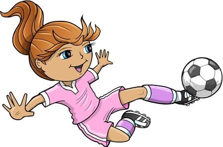 Sports Summer Soccer Girl