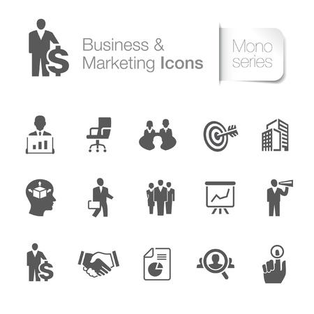 Ilustración de Business   marketing related icons - Imagen libre de derechos