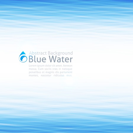 Illustration pour background with water surface and drop icon - image libre de droit