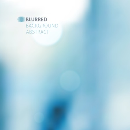 Illustration pour vector blurred abstract background with lights, blue color - image libre de droit