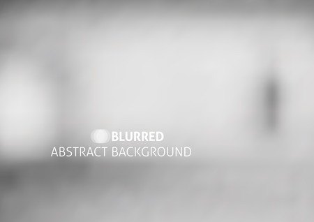 Illustration for vector abstract background with blurred objects, gray color - Royalty Free Image