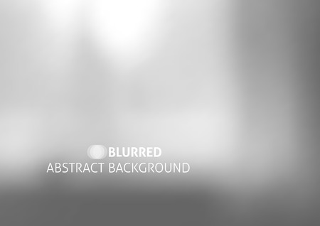 Illustration for vector background with blurred objects, abstraction in gray color - Royalty Free Image