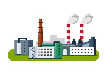 Ilustración de Industrial Factory Icon, Vector illustration in flat style. - Imagen libre de derechos