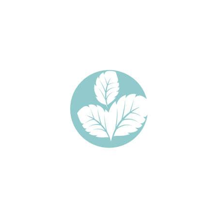 Leaf Mint Logo Template vector symbol nature
