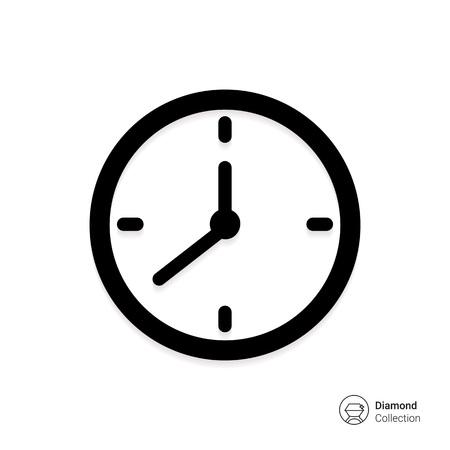 Illustration pour Vector icon of wall clock - image libre de droit