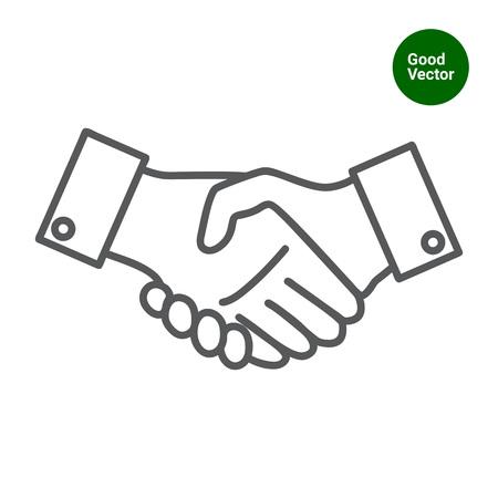 Ilustración de Icon of mans handshake sign - Imagen libre de derechos