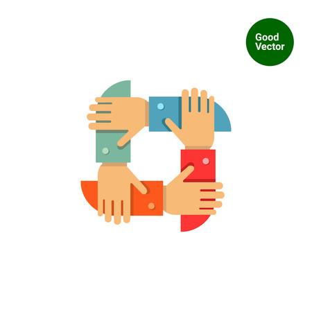 Illustration pour Icon of men's hands crossed together - image libre de droit