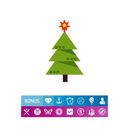 Illustration pour Decorated Christmas tree - image libre de droit