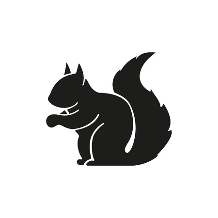 Illustration pour Squirrel simple icon - image libre de droit