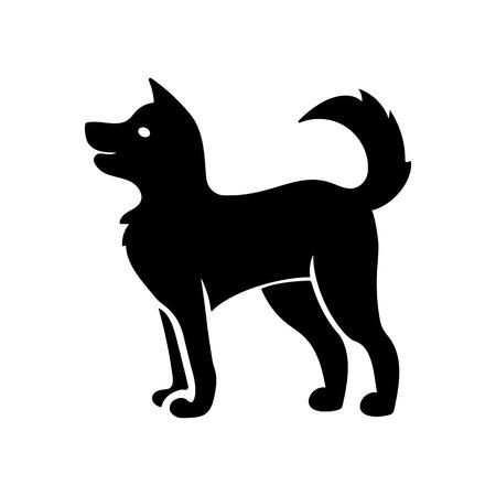 Ilustración de Friendly dog icon - Imagen libre de derechos