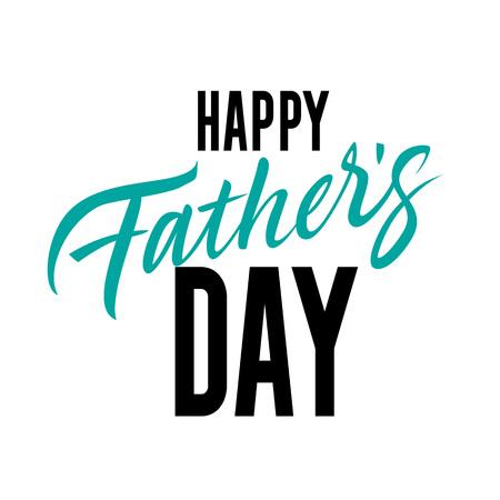 Illustration pour Happy Father Day Inscription. Fathers Day design element. - image libre de droit