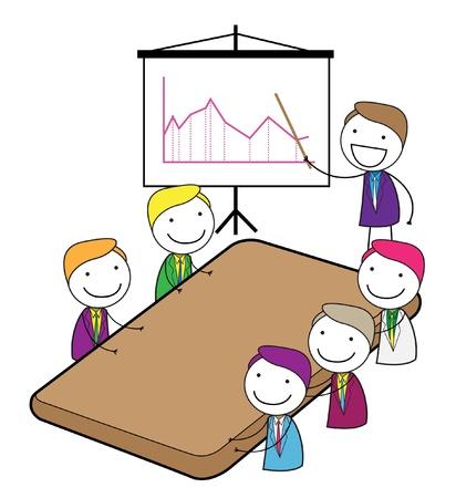Ilustración de meeting presentation - Imagen libre de derechos
